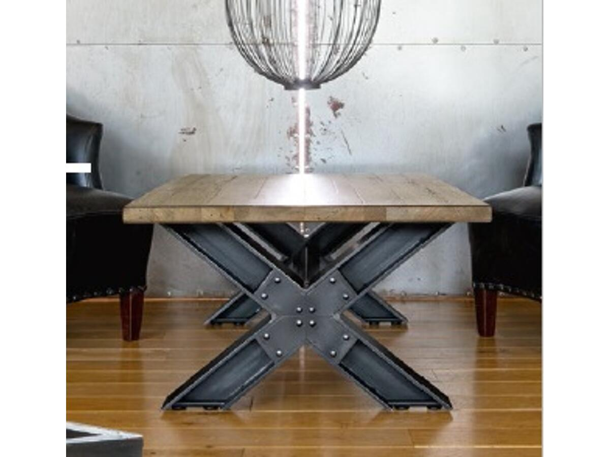 "Table basse pied ""X"""
